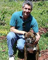 David Leavitt and Leavitt bulldog puppy