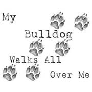 My Bulldog walks all ove rme
