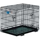 Double-door folding metal dog crate